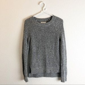 Abercrombie & Fitch cable knit sweater gray sz S